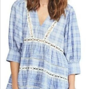 FREE PEOPLE Time Out Tunic Top Chambray